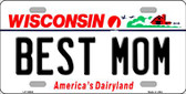 Best Mom Wisconsin Background Wholesale Metal Novelty License Plate