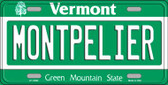 Montpelier Vermont Background Wholesale Metal Novelty License Plate
