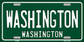 Washington Green Background Novelty Wholesale Metal License Plate