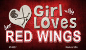 This Girl Loves Her Red Wings Wholesale Novelty Metal Magnet