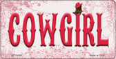 Cowgirl Novelty Wholesale Metal Bicycle License Plate BP