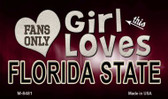 This Girl Loves Her Florida State Wholesale Novelty Metal Magnet