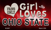This Girl Loves Her Ohio State Wholesale Novelty Metal Magnet