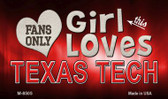 This Girl Loves Her Texas Tech Wholesale Novelty Metal Magnet