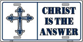 Christ Is The Answer Wholesale Metal Vanity Novelty License Plate LP-250