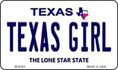 Texas Girl Texas Background Wholesale Novelty Metal Magnet M-9383
