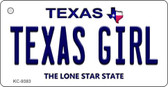 Texas Girl Texas Background Wholesale Novelty Key Chain