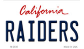 Raiders California State Background Novelty Wholesale Metal Magnet