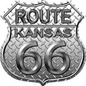 Route 66 Kansas Diamond Highway Shield Wholesale Novelty Metal Magnet