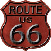 Route 66 Red Highway Shield Wholesale Novelty Metal Magnet