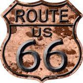 Route 66 Rusty Highway Shield Wholesale Novelty Metal Magnet