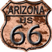 Route 66 Arizona Rusty Highway Shield Wholesale Novelty Metal Magnet