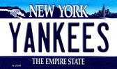 Yankees New York State Background Wholesale Novelty Metal Magnet