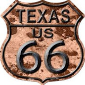 Route 66 Texas Rusty Highway Shield Wholesale Novelty Metal Magnet