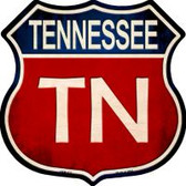Tennessee Highway Shield Wholesale Novelty Metal Magnet HSM-537