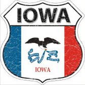 Iowa State Flag Highway Shield Novelty Metal Magnet