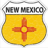 New Mexico State Flag Highway Shield Novelty Metal Magnet