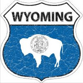 Wyoming State Flag Highway Shield Novelty Metal Magnet