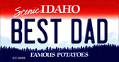 Best Dad Idaho State Background Wholesale Metal Novelty Key Chain
