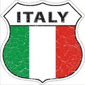 Italy Flag Highway Shield Novelty Metal Magnet