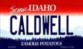 Caldwell Idaho State Background Wholesale Metal Novelty Magnet
