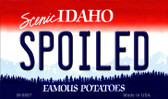 Spoiled Idaho State Background Wholesale Metal Novelty Magnet M-9887