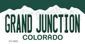Grand Junction Colorado Background Wholesale Metal Novelty Key Chain