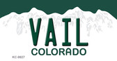 Vail Colorado Background Wholesale Metal Novelty Key Chain