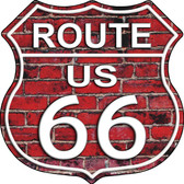 Route 66 Red Brick Wall Wholesale Metal Novelty Highway Shield