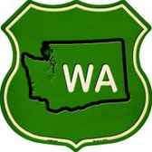 WA State Highway Shield Novelty Metal Magnet