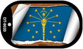 """Indiana State Flag Scroll Dog Tag Kit 2"""" Wholesale Metal Novelty Necklace"""