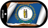 """Kentucky State Flag Scroll Dog Tag Kit 2"""" Wholesale Metal Novelty Necklace"""