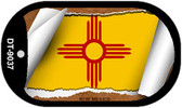 """New Mexico State Flag Scroll Dog Tag Kit 2"""" Wholesale Metal Novelty Necklace"""