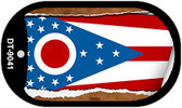 """Ohio State Flag Scroll Dog Tag Kit 2"""" Wholesale Metal Novelty Necklace"""