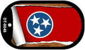 """Tennessee State Flag Scroll Dog Tag Kit 2"""" Wholesale Metal Novelty Necklace"""