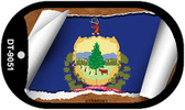 """Vermont State Flag Scroll Dog Tag Kit 2"""" Wholesale Metal Novelty Necklace"""