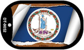 """Virginia State Flag Scroll Dog Tag Kit 2"""" Wholesale Metal Novelty Necklace"""