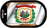 """West Virginia State Flag Scroll Dog Tag Kit 2"""" Wholesale Metal Novelty Necklace"""