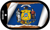 """Wisconsin State Flag Scroll Dog Tag Kit 2"""" Wholesale Metal Novelty Necklace"""