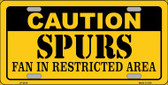 Caution Spurs Fan Wholesale Metal Novelty License Plate LP-2619