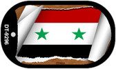 "Syria Flag Country Flag Scroll Dog Tag Kit 2"" Wholesale Metal Novelty Necklace"