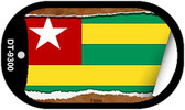 "Togo Flag Country Flag Scroll Dog Tag Kit 2"" Wholesale Metal Novelty Necklace"