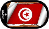 "Tunisia Flag Country Flag Scroll Dog Tag Kit 2"" Wholesale Metal Novelty Necklace"