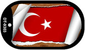 "Turkey Flag Country Flag Scroll Dog Tag Kit 2"" Wholesale Metal Novelty Necklace"