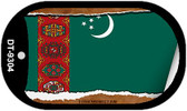 "Turkmenistan Flag Country Flag Scroll Dog Tag Kit 2"" Wholesale Metal Novelty Necklace"