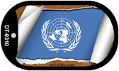 "United Nations Flag Country Flag Scroll Dog Tag Kit 2"" Wholesale Metal Novelty Necklace"