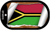 "Vanuatu Flag Country Flag Scroll Dog Tag Kit 2"" Wholesale Metal Novelty Necklace"