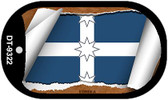 "Eureka Flag Country Flag Scroll Dog Tag Kit 2"" Wholesale Metal Novelty Necklace"