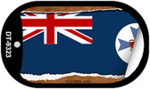 "Queensland Flag Country Flag Scroll Dog Tag Kit 2"" Wholesale Metal Novelty Necklace"