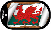 "Wales Flag Country Flag Scroll Dog Tag Kit 2"" Wholesale Metal Novelty Necklace"